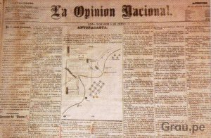 La opinión nacional en su edición 8 de junio de 1879